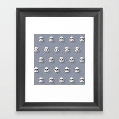 Stormtrooper Episode VII Flat Design Mosaic Framed Art Print