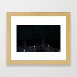 Violet Forest Framed Art Print