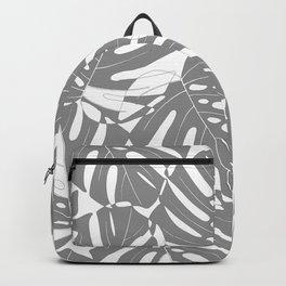Monstera deliciosa Minimalistic black and white Backpack