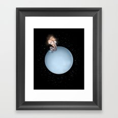 Lost in a Space / Uranusia Framed Art Print