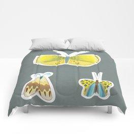 yellow butterflies Comforters