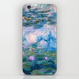 Water Lilies Monet Teal iPhone Skin