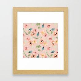 Icelandic Poppies Pattern Framed Art Print
