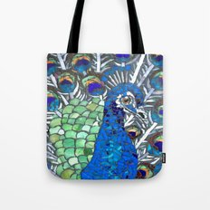 Small Peacock Tote Bag