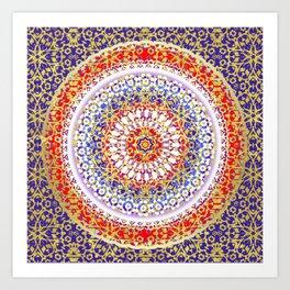 Violet Baroque Mandala Art Print