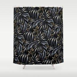 Jurassic Jungle - Grey Gold Shower Curtain