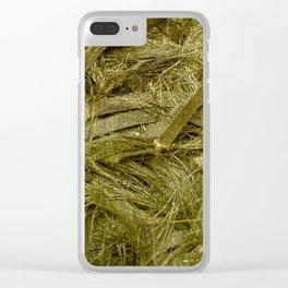Golden fibers Clear iPhone Case