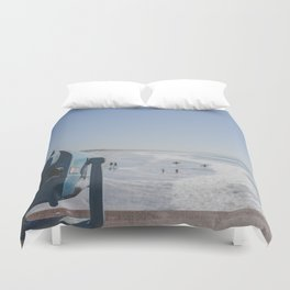 Sight and Surf - Venice Beach, California Duvet Cover