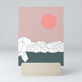Geometric Landscape 17 Mini Art Print