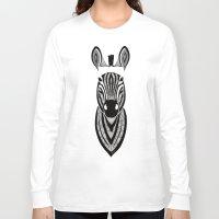 zebra Long Sleeve T-shirts featuring Zebra by Art & Be