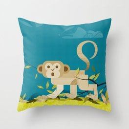Tessa, scimmia perplessa Throw Pillow