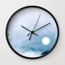 Blue Heaven Wall Clock