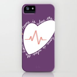 Home Is Where The Heart Is iPhone Case