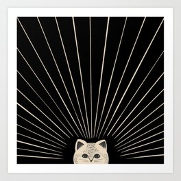 Good Morning son - Kitty 2 Art Print