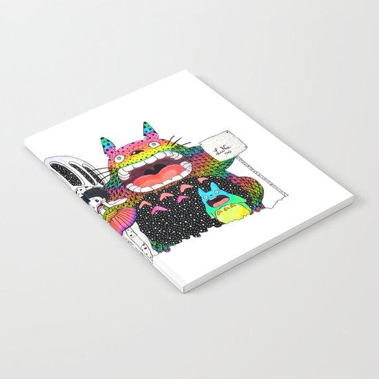 Totoro fan art (cat bus) by Luna Portnoi Notebook