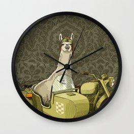 Sidecar Llama Wall Clock