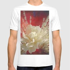 Dry Flowers 2 MEDIUM Mens Fitted Tee White