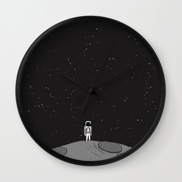 Tiny Little Spaceman Wall Clock