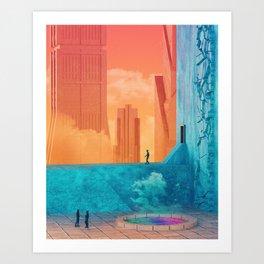 Cloudpools Art Print