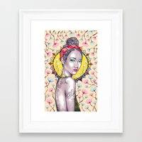 you are my sunshine Framed Art Prints featuring Sunshine by Peter Fulop