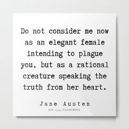 89    | Jane Austen Quotes | 190722 Metal Print