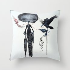gothic kebaya Throw Pillow