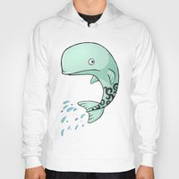 the whale Hoodies featuring Whale by Freeminds