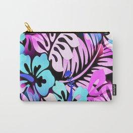 Hawaiian Flowered Shirt Print Pink Blue Carry-All Pouch