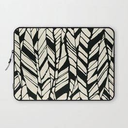 black and white feather texture Laptop Sleeve
