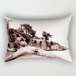 Beach days monochrome Tree trunk Rectangular Pillow