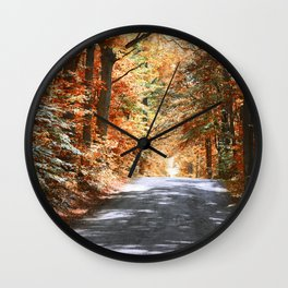 Autumn Pathway ~ Rockville, Indiana Wall Clock