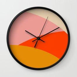 Retro Sun and Waves Print,70's home decor,Mid Century Wall Art,Retro Wall Art, 70's decor Wall Clock