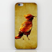 crow iPhone & iPod Skins featuring Crow by Joe Ganech
