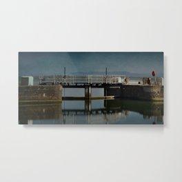 Lydney Harbour Lock Metal Print