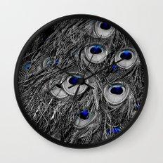 Peacock Blues Wall Clock