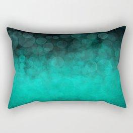 Aqua Cyan Spotted Rectangular Pillow