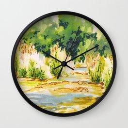 Hafren Reeds Wall Clock