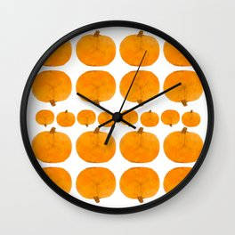 Pumpkin Pattern | Rustic Wall Clock