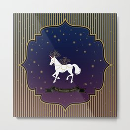 The Moonlight Parade-Unicorn Metal Print