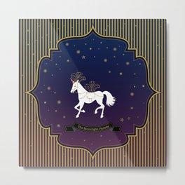 The Moonlight Parade-Unicorn Metal Print