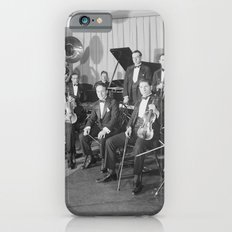Vintage black and white photo of orchestra iPhone 6s Slim Case