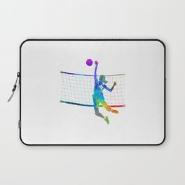 Woman volleyball player in watercolor Laptop Sleeve