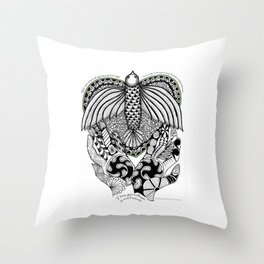 This goodbye is not forever Sympathy  - Zentangle Illustration Throw Pillow
