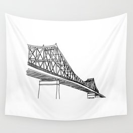 Montreal - Pont Jacques-C - Black Wall Tapestry