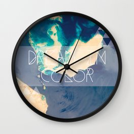 Dream In Color Wall Clock
