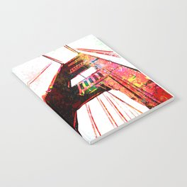 Golden Gate Bridge - San Francisco - Pop Art Notebook
