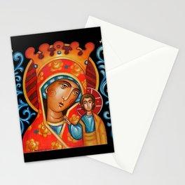 modern folk icon - Folk Madonna 2 Stationery Cards