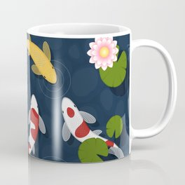 Japanese Koi Fish Pond Coffee Mug