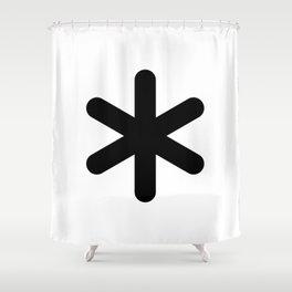 X Y Z Shower Curtain