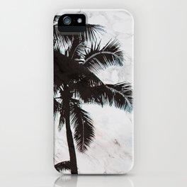 Velvet Palm trees on marble iPhone Case